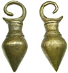 Dayak Rustic Brass Spinning Top Ear Weights (SKU: DBW-1)