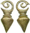 Dayak Brass Large Spinning Top Ear Weights (SKU: DBW-3)