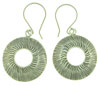 Karen Tribe Silver Hanging Stamped Shield Earrings (SKU: E131)