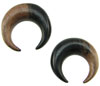Large Gauge Ebony Wood Captive Hoops (SKU: ECBR)