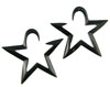 Large Gauge Hanging Horn Star Earrings (SKU: HANGH004)