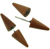 Sawo Wood Spiked Fakie Earrings (SKU: HFS-S)