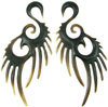 Large Gauge Long Horn Swan Hook Earrings (SKU: HHK1)