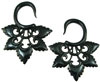 Large Gauge Fancy Horn Hanging Star Earrings (SKU: HHK4)