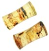 Large Gauge Mexican Amber Double Flared Plugs (SKU: MASP)