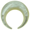 Mother of Pearl Septum Ring with Divot (Sold in Lots by Gauge Size) (SKU: MOPSRD-LOT)