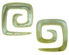 Large Gauge Mother of Pearl Square Spiral Earrings (SKU: MOPSS)