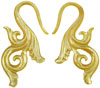 Large Gauge Mother of Pearl Shell Fancy S Hook Earrings (SKU: SH-F)