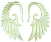 Large Gauge Mother of Pearl Shell Seraphim Wing Earrings (SKU: SH15)