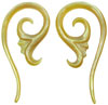 Large Gauge Mother of Pearl Shell Sprouting Spiral Earrings (SKU: SH2)