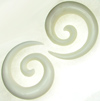 Large Gauge Compact Bone Spiral Earrings (SKU: SPRLB101)