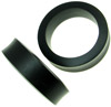 Large Gauge Hollow Ebony Wood Saddle Plugs (SKU: WHS-A)