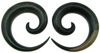Ebony Wood Round Spiral Gauge Earrings (SKU: WSAR)
