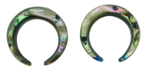 Large Gauge Abalone Shell Pincher Hoops