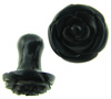 0 Gauge Ebony Wood Flower Lobe Plugs