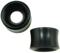Large Gauge Ebony Wood Hollow Tunnel Saddle Plugs