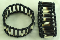 African Porcupine Quill Bead Bracelet