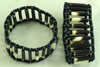 African Porcupine Quill & Bead Bracelet