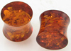 5/8 inch fake amber double flared plugs