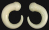 0 gaugeBone Tapered Claws with Ball Heads