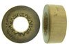 "1-1/2"" Thick Walled Bamboo Cylinder Plugs with Burnt Sun Designs"