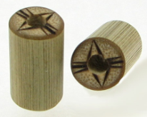 Large Gauge Bamboo Cylinder Plugs, Burnt Abstract Eye Designs
