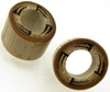Bamboo Cylinder Plugs with Burnt Wind Mill Designs, pair, 3/4 inch diameter