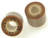 Bamboo Cylinder Plugs with Burnt Dots, pair, 5/8 inch diameter