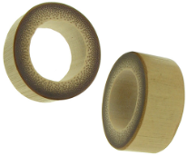 Large Gauge Oval Bamboo Plugs