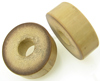 Bamboo Cylinder Plugs, Thick Walled Pair, 1 inch through 1-3/8 inch diameter