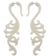 Tall Fancy Bone Fake Gauge Earrings