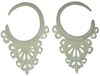 Balinese Lace Bone Hook Earrings, 14 gauge through 1/2 inch diameter