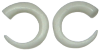 C-Taper Bone Pincher Hoop Gauge Earrings