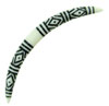 4 gauge Large Gauge Black Tattoo Designed Bone Septum Tusk