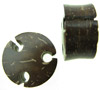 1 inch Drilled Hole Coconut Shell Saddle Plugs