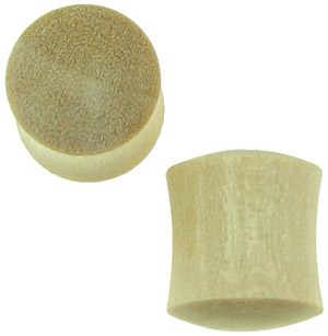 Crocodile Wood Saddle Plugs, 000 gauge
