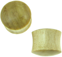 Large Gauge Crocodile Wood Saddle Plugs