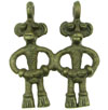 Dayak Brass Twin Male Protective Figure Pendant