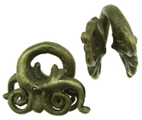 Dayak Brass Large Double Aso Dragon Ear Weights