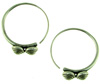 Thai Hill Tribe Fine Silver Knobby Hoop Earrings