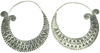 Karen Tribe Silver Large Flat Hoop Earrings