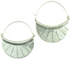 Karen Tribe Silver Wide Hanging Fan Hoop Earrings