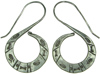 Karen Tribe Silver Hanging Flat Stamped S Spiral Earrings