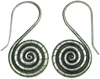 Karen Tribe Silver Hanging Rope Spiral Earrings