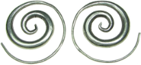 Karen Tribe Silver Round Spiral Earrings