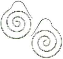 Sterling Silver Hanging Spiral Earrings