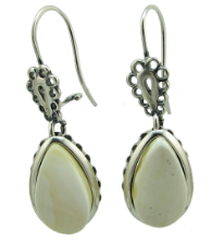 Sterling Silver Butterscotch Baltic Amber Teardrop Earrings