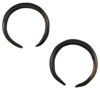 12 Gauge Ebony Wood Captive Hoops