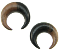 Large Gauge Ebony Wood Captive Hoops