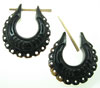 Thorn Style Horn Earrings, Shell Hoops